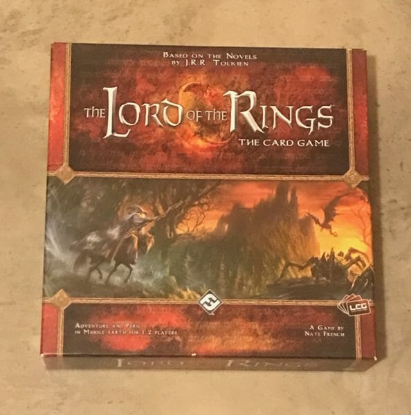 The Lord of the Rings card game box