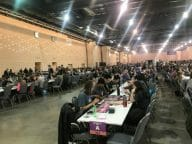 A game convention hall.